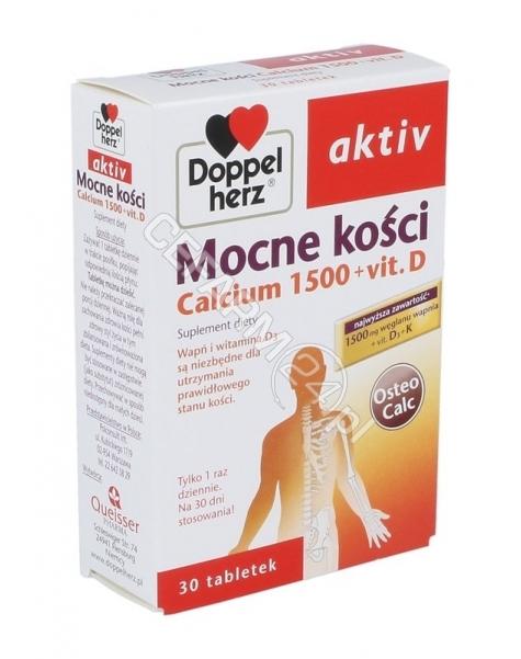 QUEISSER Doppel herz Aktiv Mocne kości Calcium 1500 + vit D x 30 tabletek