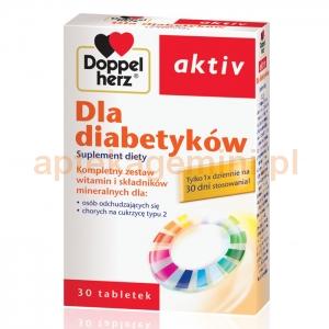 QUEISSER PHARMA Doppelherz Aktiv, Dla diabetyków, 30 tabletek