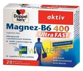 QUEISSER PHARMA GMBH & CO. Doppelherz aktiv Magnez-B6 UltraFAST 20 saszetek