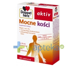 QUEISSER PHARMA GMBH & CO. DoppelHerz Aktiv Mocne kości Calcium 1500+vit D 60 tabletek