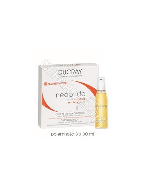 PIERRE FABRE Ducray Neoptide - kuracja dla kobiet przeciw przewlekłemu wypadaniu włosów w sprayu 3 x 30 ml + Ducray anaphase szampon 50 ml GRATIS !!!