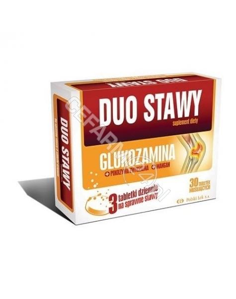 POLSKI LEK Duo stawy maxiflex glukozamina x 30 tabl musujących
