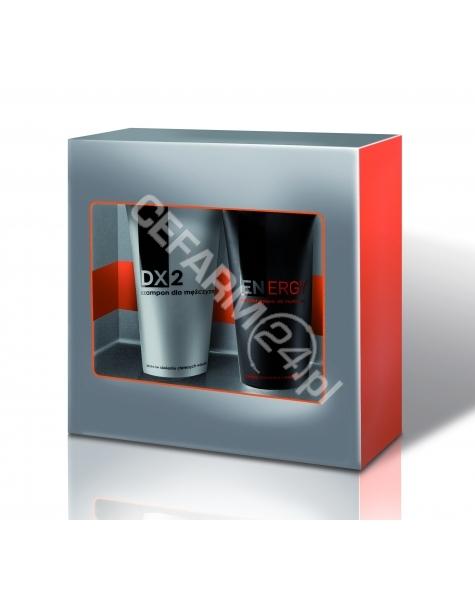 AFLOFARM Dx2 promocyjny zestaw SREBRNY - Dx2 szampon dla mężczyzn przeciw siwieniu włosów 150 ml + żel pod prysznic Energy 150 ml