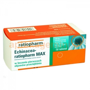RATIOPHARM Echinacea Ratiopharm Max 100mg, 50 tabletek OKAZJA