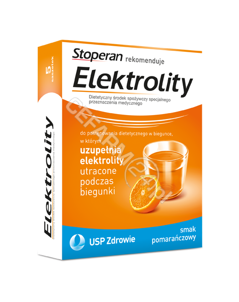 USP ZDROWIE Elektrolity x 5 sasz o smaku pomarańczowym