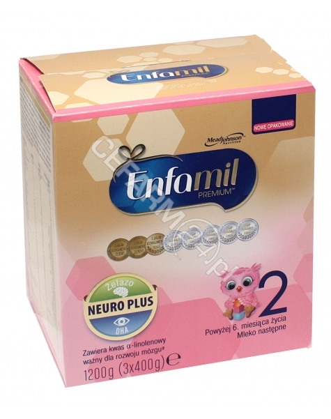MEAD JOHNSON Enfamil premium 2 LIPIL mleko od 6 do 12 miesiąca 1200 g