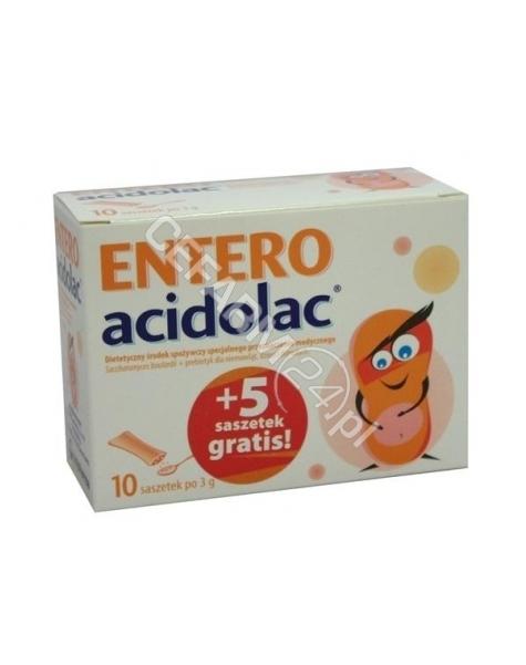 POLPHARMA Entero acidolac 10 sasz + 5 saszetek gratis