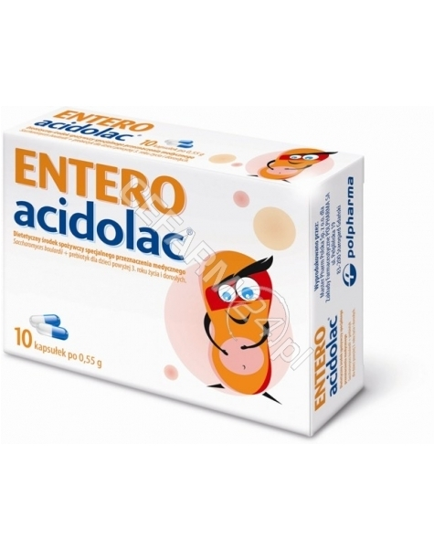 POLPHARMA Entero acidolac 550 mg x 10 kaps