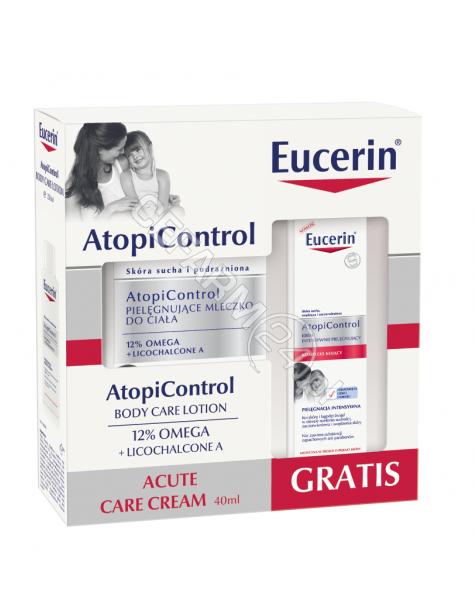 BEIERSDORF Eucerin Atopicontrol promocyjny zestaw - pielęgnujące mleczko do ciała 250 ml + krem pielęgnujący do twarzy 40 ml GRATIS !!!