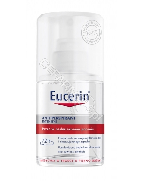 BEIERSDORF Eucerin dezodorant anti-perspirant intensive przeciw nadmiernemu poceniu 72-h 30 ml