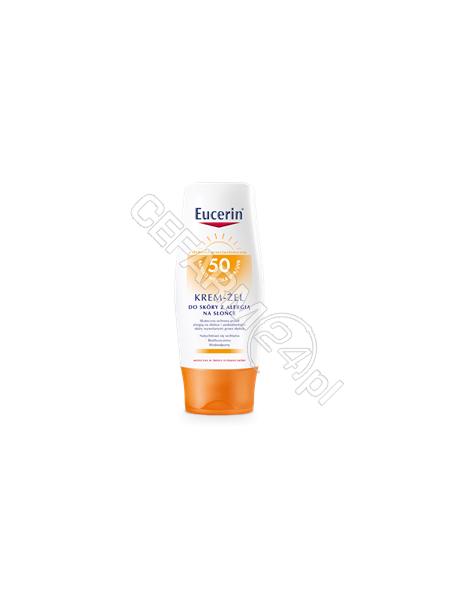 BEIERSDORF Eucerin sun krem - żel do skóry z alergią na słońce spf 50 150 ml + mleczko po opalaniu 75 ml GRATIS!!!