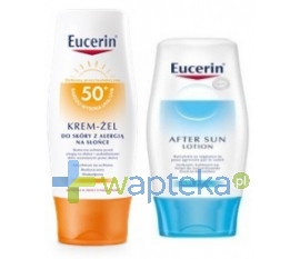 EUCERIN EUCERIN SUN Krem-żel do twarzy suchy w dotyku SPF 50+ 50 ml + Eucerin Mleczko po opalaniu 75 ml