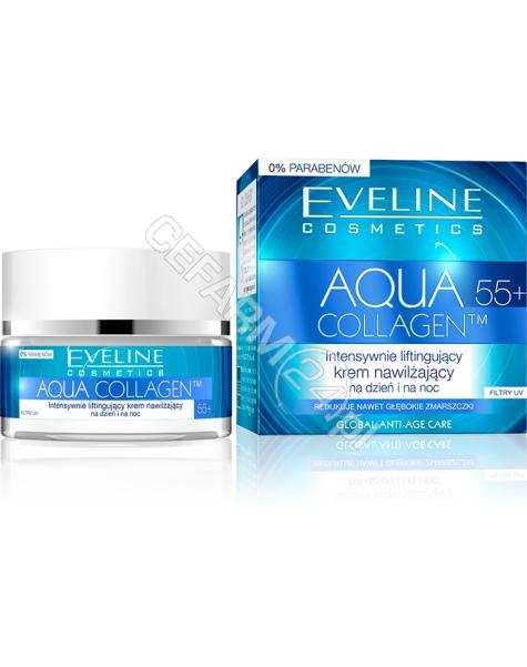 EVELINE COSM Eveline Aqua Collagen 55+ intensywnie liftingujący krem nawilżający na dzień i na noc 50 ml