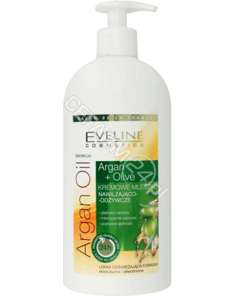 EVELINE COSM Eveline Argan Oil + Olive kremowe mleczko do ciała nawilżająco - odżywcze 350 ml