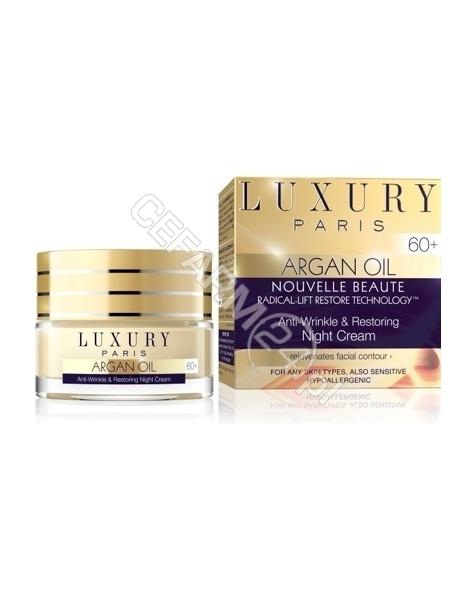 EVELINE COSM Eveline Luxury Paris Argan Oil 60+ przeciwzmarszczkowy i odbudowujący krem na noc 50 ml