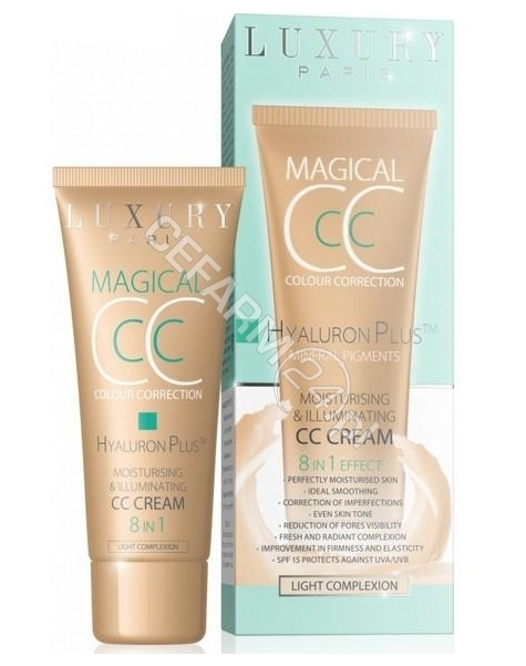 EVELINE COSM Eveline Luxury Paris Hyaluron Plus Magical CC krem cera jasna 30 ml (data ważności 30.09.2016)