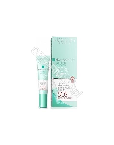 EVELINE COSM Eveline Luxury Paris Hyaluron Plus zastrzyk młodości 100% kwas hialuronowy serum 15 ml (data ważności 30.04.2016)