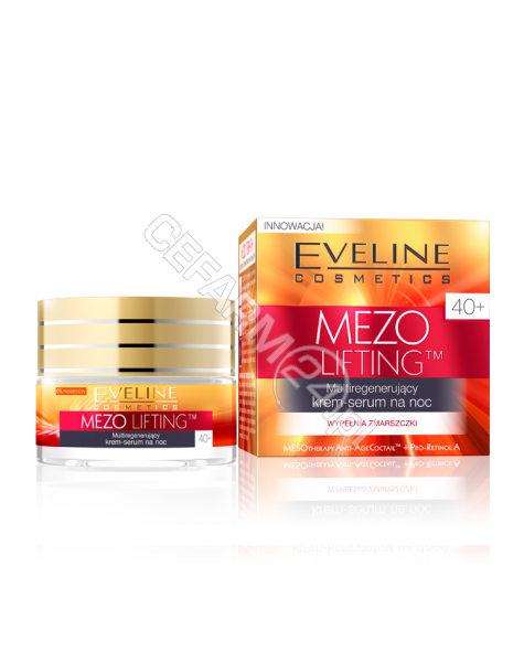 EVELINE COSM Eveline Mezo lifting 40+ multiregenerujący krem-serum na noc 50 ml