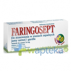 RANBAXY (POLAND) SP. Z O.O. Faringosept 20 tabletek do ssania