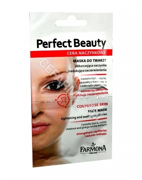 FARMONA Farmona perfect beauty cera naczynkowa maseczka do twarzy na naczynka 2 x 5 ml