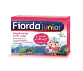PHYTOPHARM KLĘKA S.A. Fiorda Junior o smaku malinowym 15 pastylek