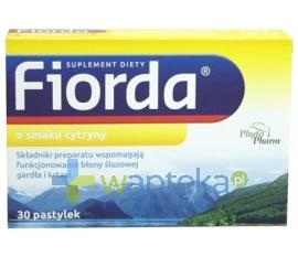 PHYTOPHARM KLĘKA S.A. Fiorda o smaku cytryny 30 pastylek do ssania