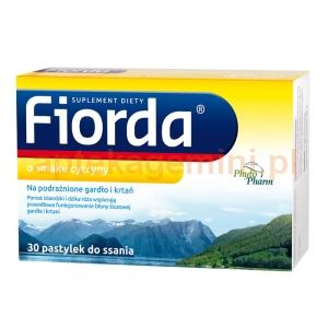 PHYTOPHARM KLĘKA Fiorda, smak cytrynowy, 30 pastylek