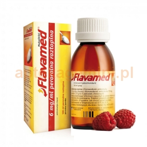 BERLIN CHEMIE Flavamed, syrop 15mg/5ml, smak malinowy, 100ml