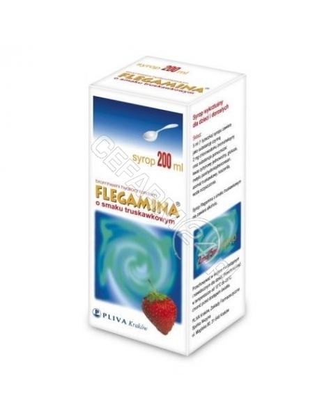 PLIVA KRAKŕW Flegamina syrop o smaku truskawkowym 200 ml