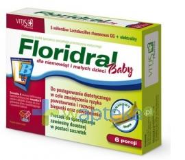 VITIS PHARMA Floridral Baby 12 saszetek (6 porcji) - Krótka data ważności - do 03-10-2015