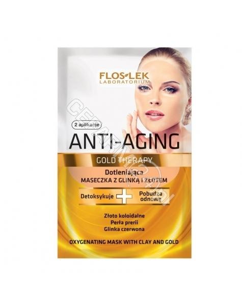 FLOS-LEK Flos-Lek Anti-Aging Gold Therapy dotleniająca maseczka z glinką i złotem 2 x 5 ml