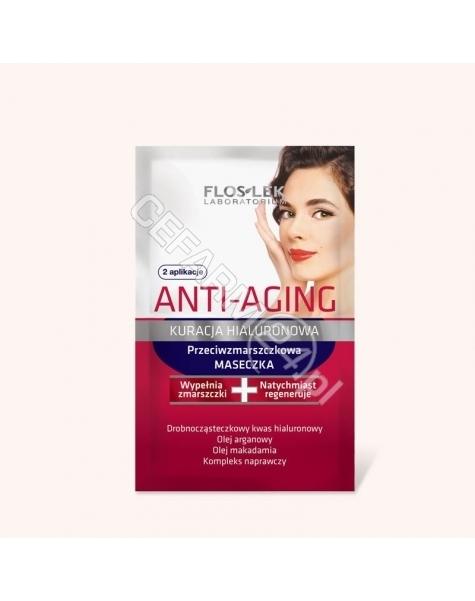 FLOS Flos-lek anti-aging kuracja hialuronowa maseczka przeciwzmarszczkowa 10 ml
