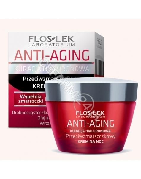FLOS Flos-lek anti-aging kuracja hialuronowa przeciwzmarszczkowy krem na noc 50 ml