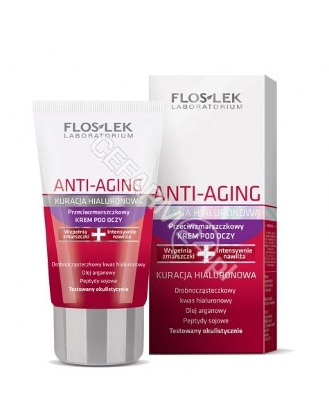 FLOS Flos-lek anti-aging kuracja hialuronowa przeciwzmarszczkowy krem pod oczy 30 ml