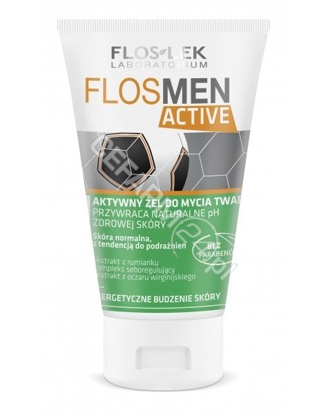 FLOS-LEK Flos-lek flosmen active aktywny żel do mycia twarzy 150 ml