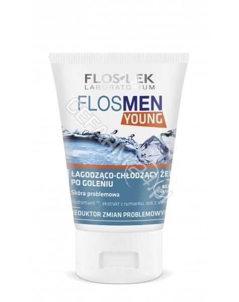 FLOS-LEK Flos-lek flosmen young łagodząco - chłodzący żel po goleniu 125 ml