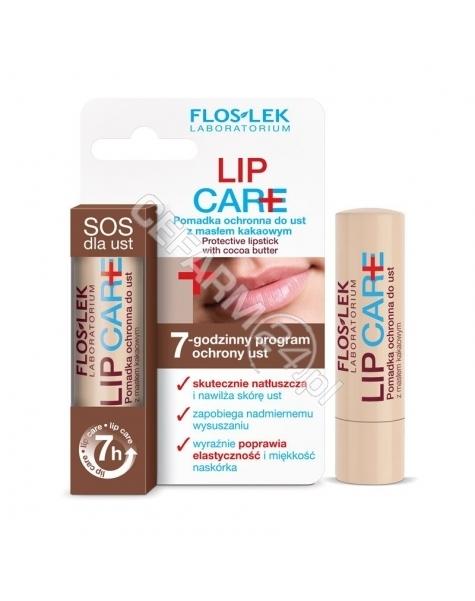FLOS-LEK Flos-lek lip care - pomadka ochronna do ust z masłem kakaowym