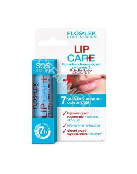 FLOS-LEK Flos-lek lip care - pomadka ochronna do ust z witaminą E