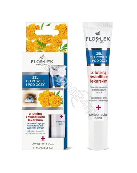 FLOS-LEK Flos-lek żel pod oczy z luteiną i świetlikiem lekarskim 15 ml
