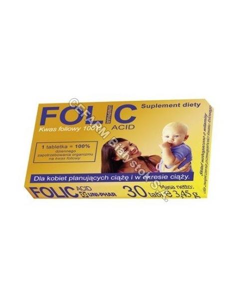 UNIPHAR Folic acid x 30 tabl (uniphar)