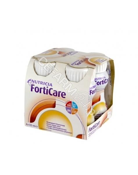 NUTRICIA Forticare pomarańczowo - cytrynowy 4 x 125 ml