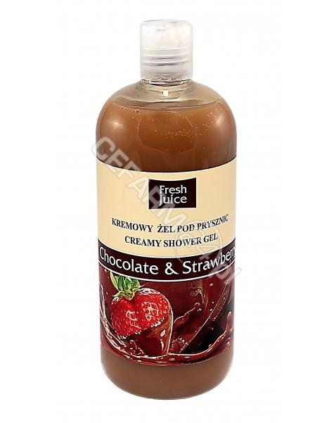 ELFA PHARM Fresh Juice kremowy żel pod prysznic Chocolate&Strawberry 500 ml (data ważności 31.12.2016)