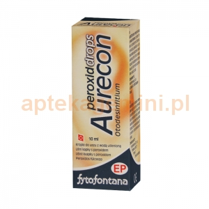 HERB-PHARMA Fytofontana Aurecon Peroxid Drops, krople do uszu z wodą utlenioną, 10ml