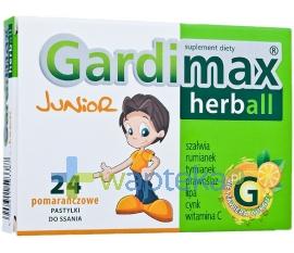 TACTICA PHARMACEUTICALS SP. Z O.O. Gardimax Herball Junior 24 pastylki do ssania