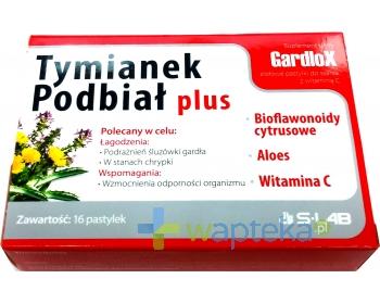 S-LAB SP. Z O. O. Gardlox Tymianek i Podbiał Plus 16 pastylek do ssania