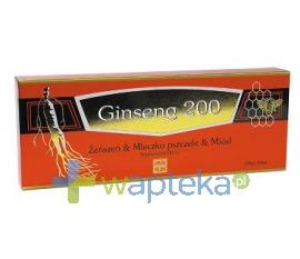GINSENG POLAND Ginseng 200 Żeńszeń & Mleczko pszczele 10 fiolek
