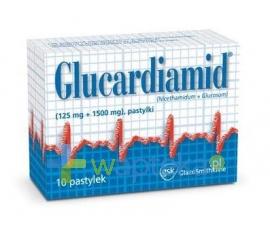 GLAXO WELLCOME S.A. Glucardiamid 10 pastylek do ssania