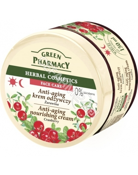 ELFA PHARM Green Pharmacy anti-aging krem odżywczy do twarzy żurawina 150 ml