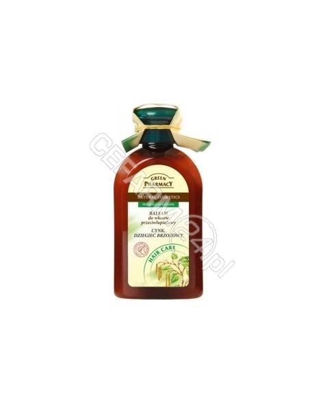ELFA PHARM Green Pharmacy balsam Cynk i Dziegieć brzozowy do włosów przeciwłupieżowy 300 ml