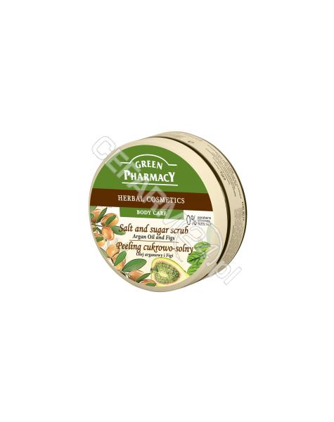 ELFA PHARM Green Pharmacy cukrowo - solny peeling do ciała olej arganowy i figi 300 ml